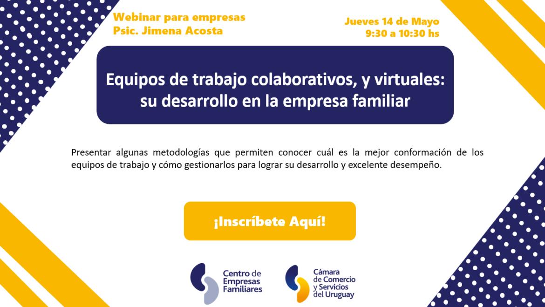 Webinar «Gestión de equipos colaborativos y virtuales. Su desarrollo en la empresa familiar»