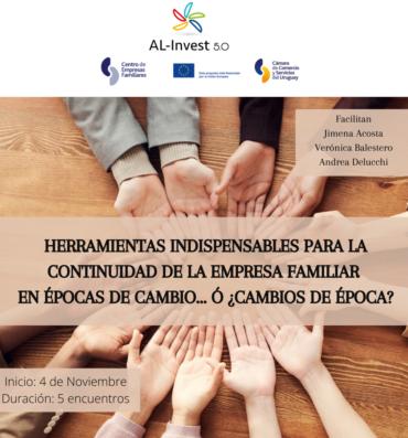 HERRAMIENTAS INDISPENSABLES PARA LA CONTINUIDAD DE LA EMPRESA FAMILIAR EN ÉPOCAS DE CAMBIO… Ó CAMBIOS DE ÉPOCA